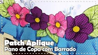 PANO DE COPA FLORIDO COM BARRADO