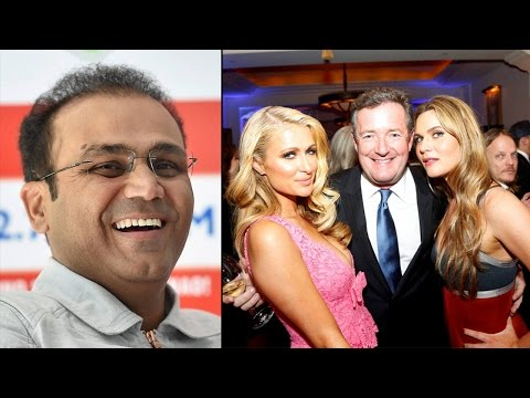 Virender Sehwag's epic reply to Piers Morgan for mocking India's Olympic win|Oneindia News