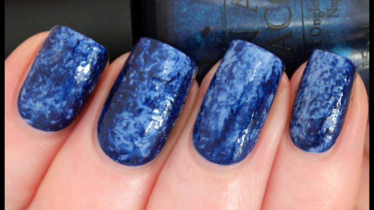 saran nail wrap art tutorial