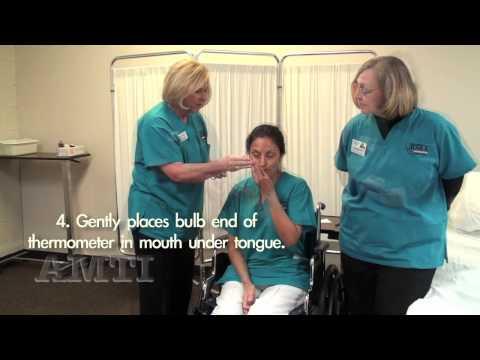 CNA Skills: Vital Signs- Temperature, Pulse, Respiration