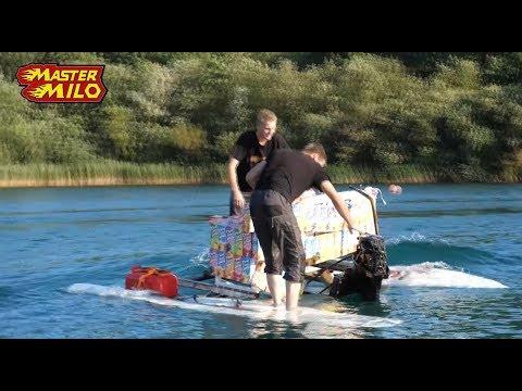 Help! We're sinking! Fast DIY motorized catamaran.