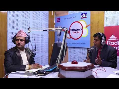 Talkshow at Kathmandu in Nepali with  Balchand Adhikari