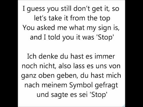 Victorious - Take A Hint - Lyrics + German Translation