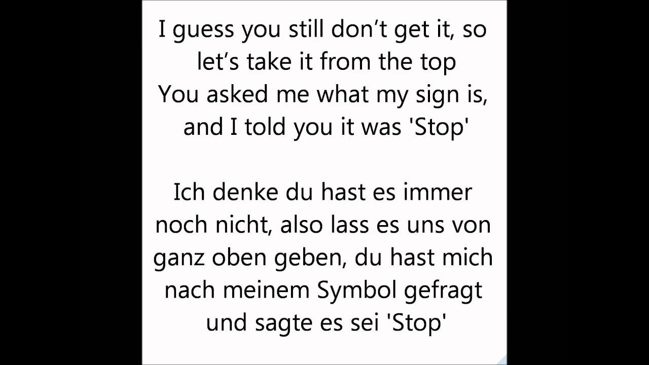 Victorious - Take A Hint - Lyrics + German Translation ...