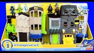 Imaginext Gotham City Center With Batman Mr. Freeze Catwoman Riddler Gordon DC Fisher Price