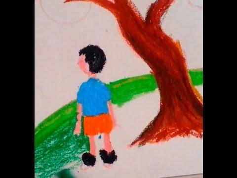 Manzara çocuk Pastel Boya çalısması Sanatın Renkleri Resim
