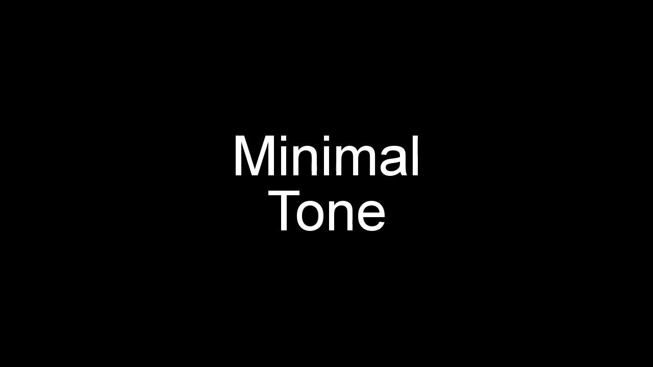 sonnerie minimal tone