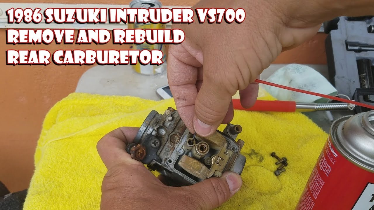 1986 suzuki intruder vs700 rear carburetor remove and rebuild [ 1280 x 720 Pixel ]