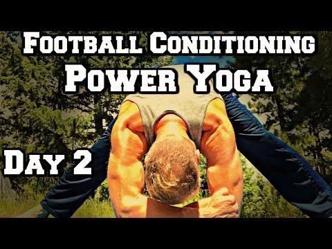 Football Conditioning Yoga Core/Abs Workout - Power Yoga Challenge 1 of 3 #yogaforathletes