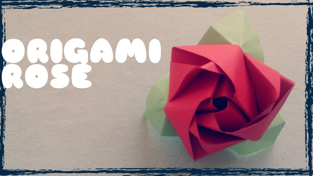 3D origami flower tutorial (model1) - YouTube | 720x1280