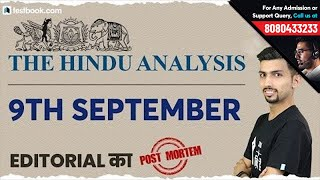 The Hindu 9th September Editorial Analysis by Aditya Sir | English Vocabulary for SSC CGL Tier 2