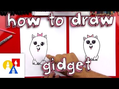 How To Draw Gidget From The Secret Life Of Pets