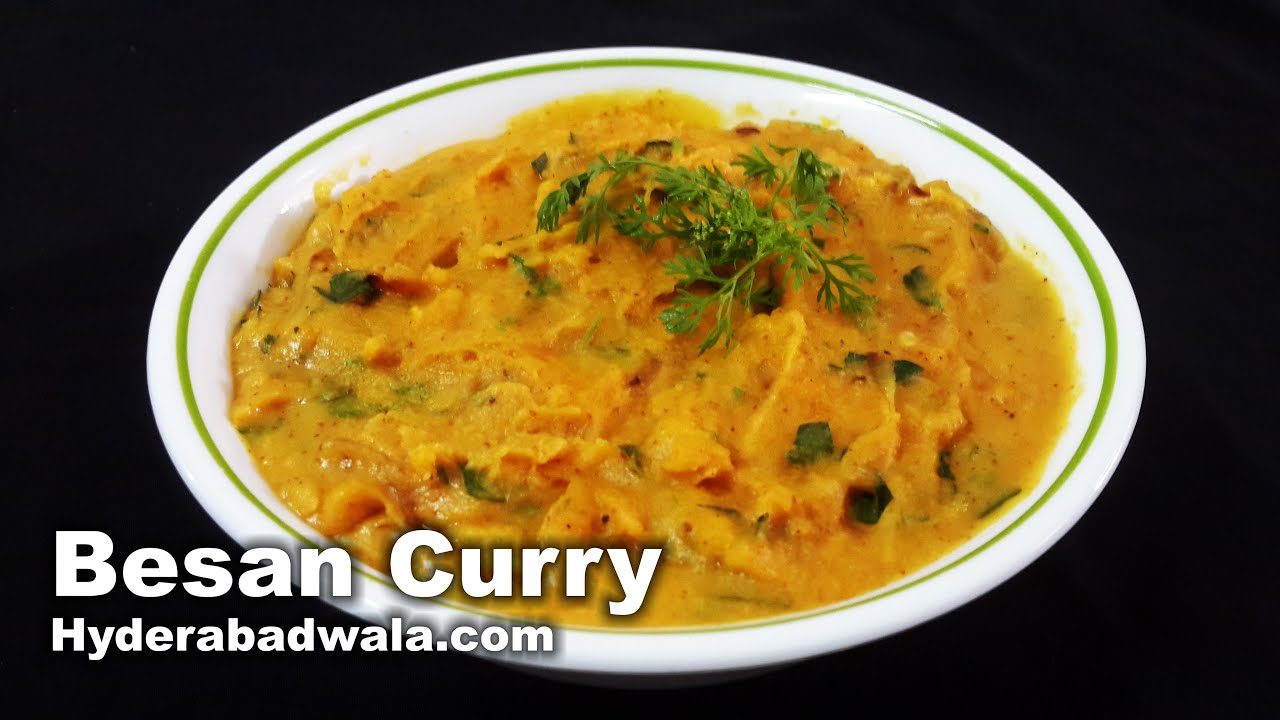 Besan recipe video how to make hyderabadi chickpea flour curry at besan recipe video how to make hyderabadi chickpea flour curry at home easy simple forumfinder Image collections