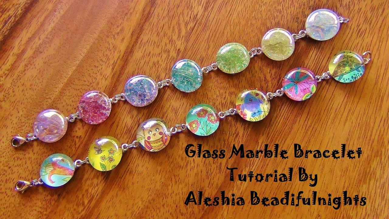 Glass Marble Bracelet Tutorial - YouTube