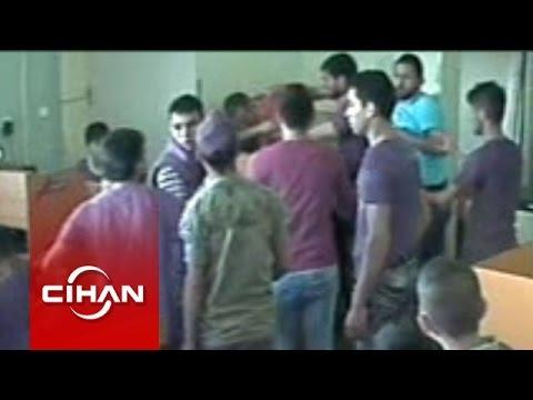 Suriyeli grubun internet kafe basması güvenlik kamerasında