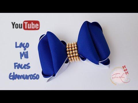Laço de Gorgurão 🎀 Laço Mil Faces Glamuroso   🎀 DIY  🎀 Pap 🎀 Tutorial 🎀 By Iris Lima