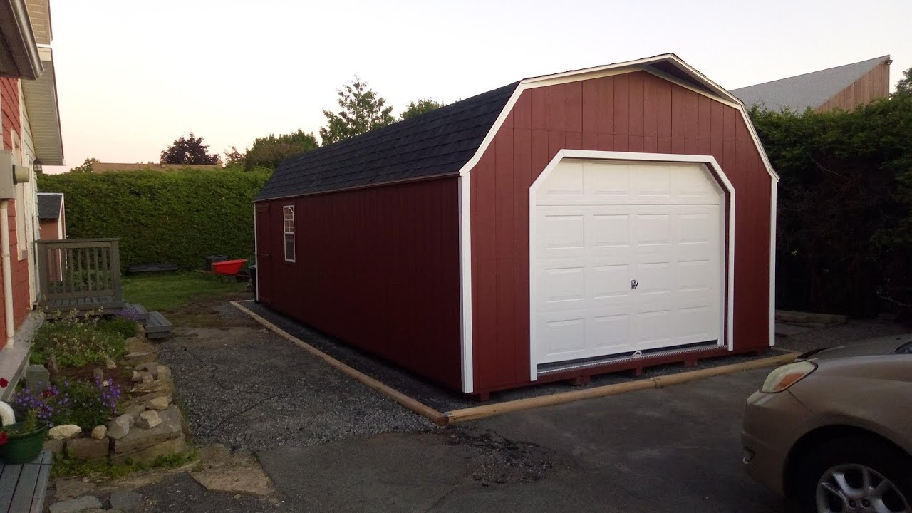 14 X 28 Portable Garage Shed Sheds Ottawa Youtube