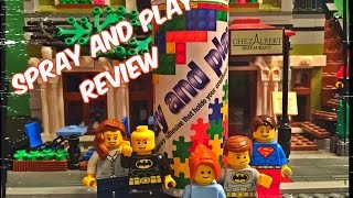 SPRAY AND PLAY TEMPORARY LEGO ADHESIVE PRODUCT REVIEW