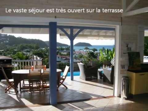 Vid o location d 39 une villa de luxe avec piscine aux trois - Location villa piscine martinique ...