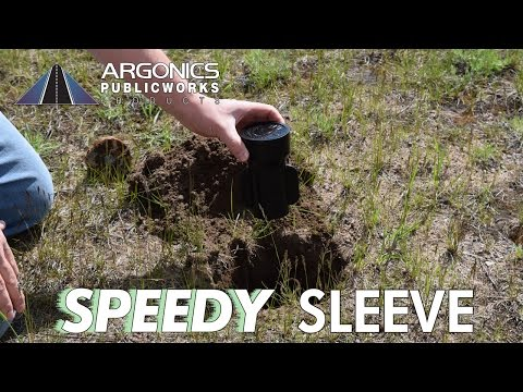 Speedy Sleeve polyurethane curb box repair sleeve installation