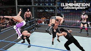 WWE 2K18 Elimination Chamber 2018 - Reigns vs John Cena vs Braun vs Rollins vs Balor vs Miz vs Elias