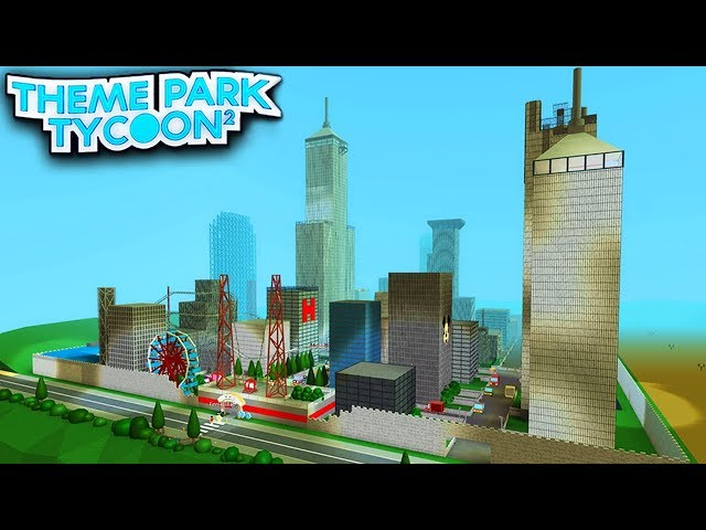 Biggest City Park In Theme Park Tycoon 2 Roblox Youtube - a glitch in roblox city tycoon 2
