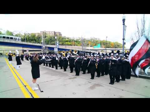 Marching Band Playing Herbie Hancock  Rockit after Steelers v Cardinals Game
