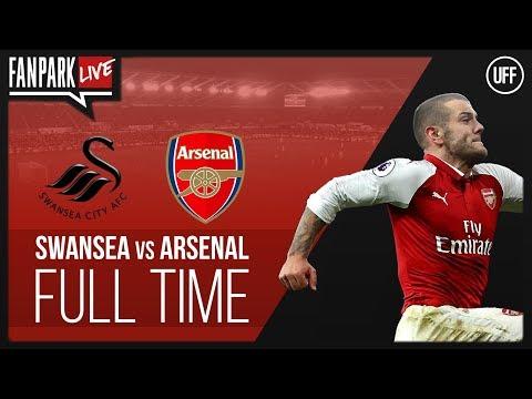 Swansea city 3 vs 1 arsenal - full time phone in - fanpark live