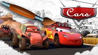 Coloring Book Cars Lightning McQueen - Pages Video For Kids Episode 1