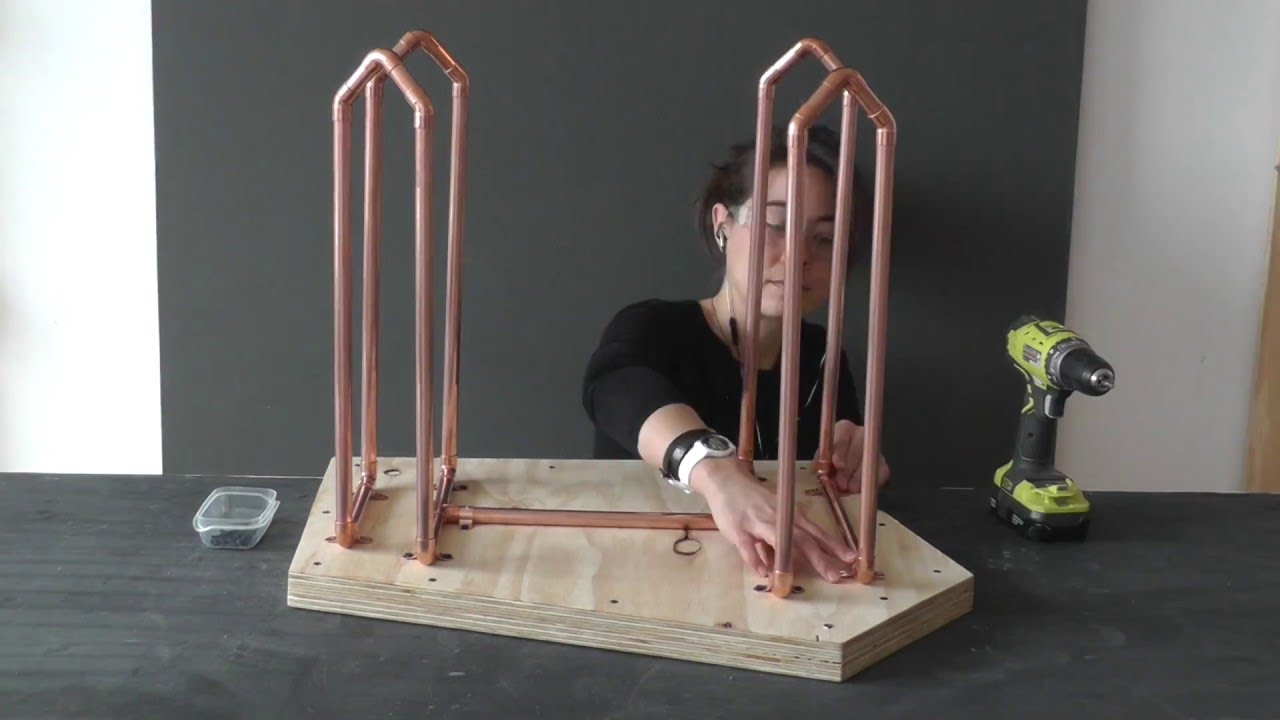 How To Make A Coffee Table With Copper Legs   YouTube