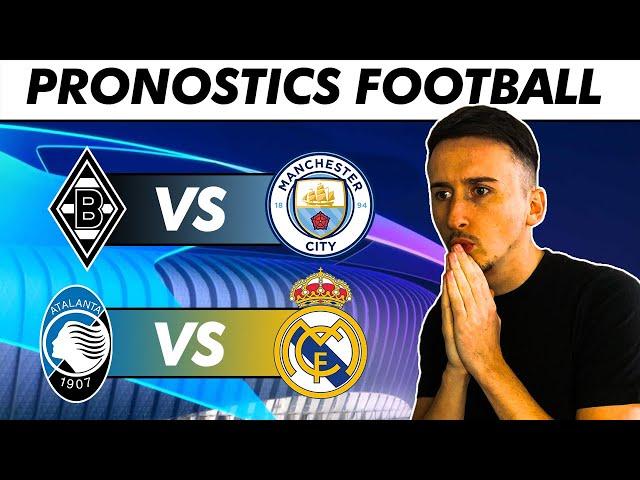 PRONOSTICS FOOTBALL (Champions league) Le Real en danger ? City détruit Gladbach ?