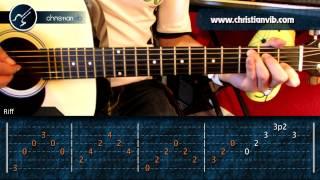 """Cómo tocar """"Mi Bello Ángel"""" de Primos MX en Guitarra Acústica (HD) Tutorial - Christianvib"""