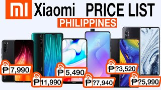 Xiaomi Smartphones Price List in the Philippines