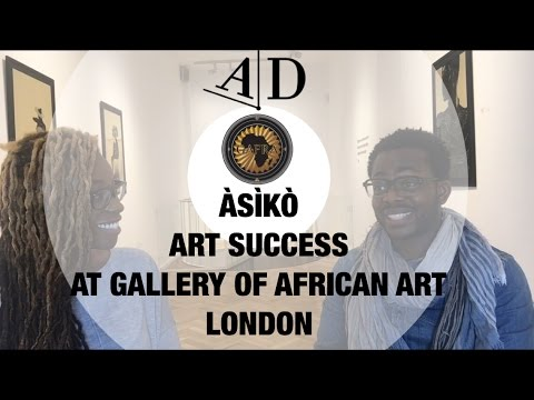 ÀSÌKÒ in Conversation with Adelaide Damoah. Art Discussion at Gallery of African Art Mayfair
