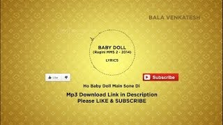 ☆ Baby Doll - Ragini MMS 2 | Lyrics + Free Mp3 Download 1080p HD