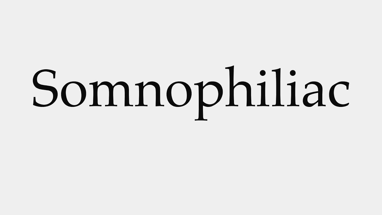 Somnophilia meaning
