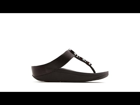 ba27c215117da FitFlop Halo Leather Disk Thong Sandal - YouTube