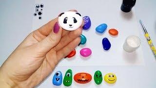 видео Рисование на камнях для детей: роспись, рисование на камнях для начинающих, рисование на камнях мастер-класс