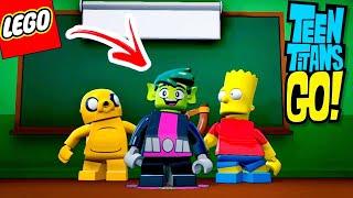 O MUTANO INVADIU O MUNDO LEGO ! (JOVENS TITÃS EM AÇÃO, SIMPSONS E HORA DE AVENTURA)