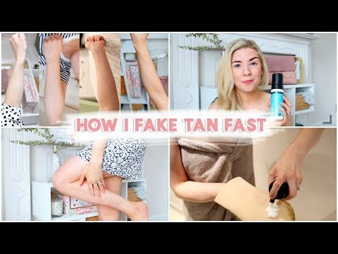 HOW TO FAKE TAN FAST | ST TROPEZ ONE MINUTE TAN REVIEW | KATE MURNANE AD