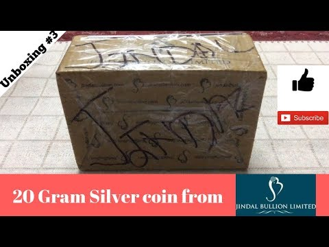 Unboxing 20 Gram 999 silver coins from Jindal Bullion for FREE. (India Only)