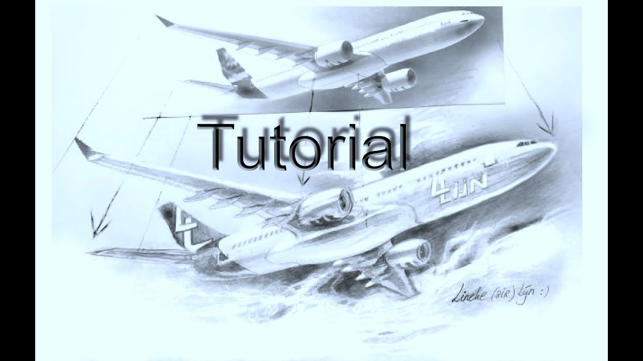 Easy Airplane For Beginners Graphite Drawing Youtube