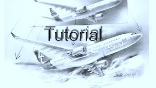 How to Draw an Airplane - Realistic