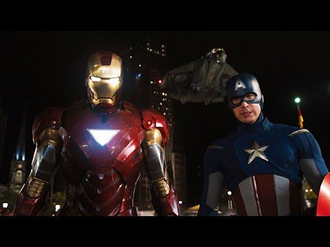 Железный Человек И Капитан Америка Против Локи   Мстители