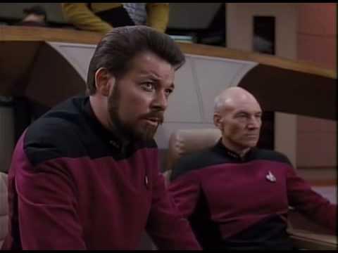 Enterprise-D fights Husnock warship