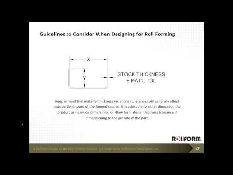 A Definitive Guide to the Roll Forming Process