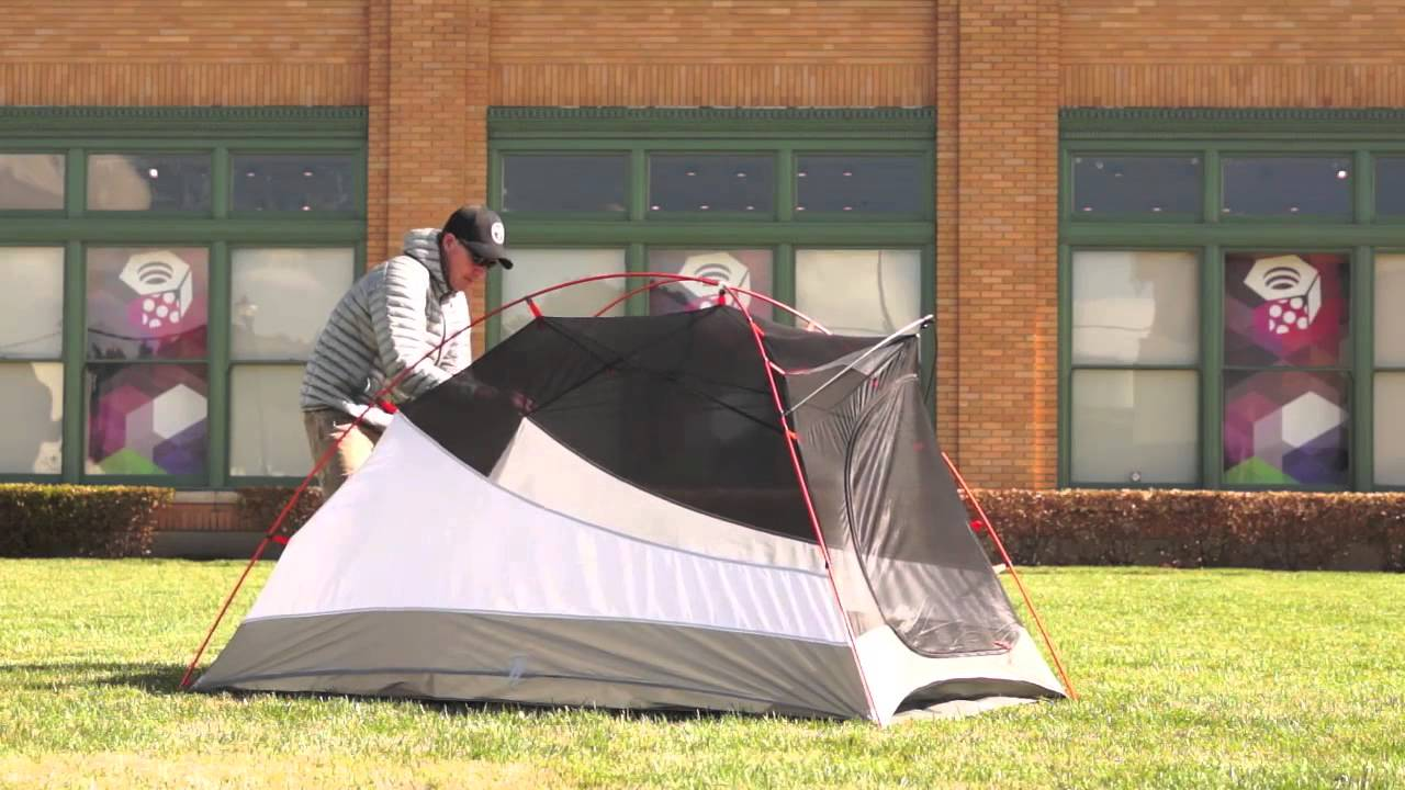 Mountain Hardwear Lightwedge DP 3-Person C&ing Tent & Mountain Hardwear Lightwedge DP 3-Person Camping Tent - YouTube