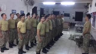 Çavuş askerlere veda ediyor 😌