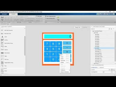 Robocam: MATLAB App-Designer Calculator-Code view | part2