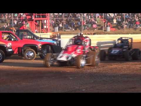 Lincoln Speedway USAC and 358 Sprint Car Highlights 06-08-16